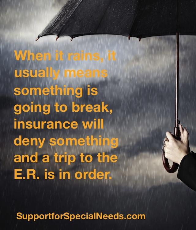 special needs raining