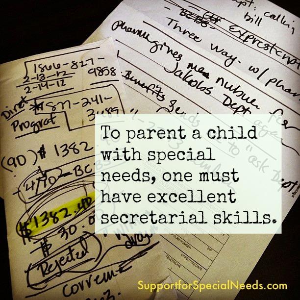 special needs secretary