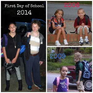 First Day of School Collage
