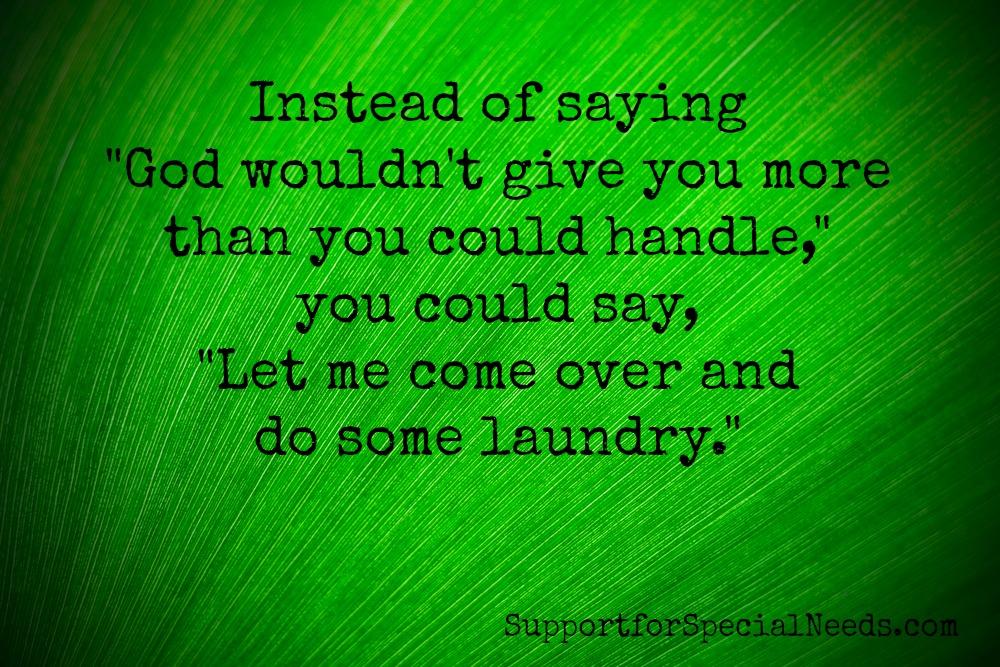 handle laundry